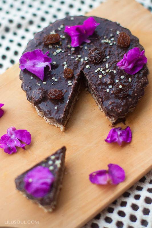 Шоколадно-тахинная корзиночка